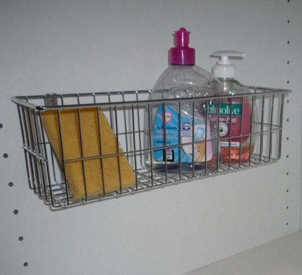 Accessoires de rangement corbeille chrome taille s - Corbeille salle de bain ...