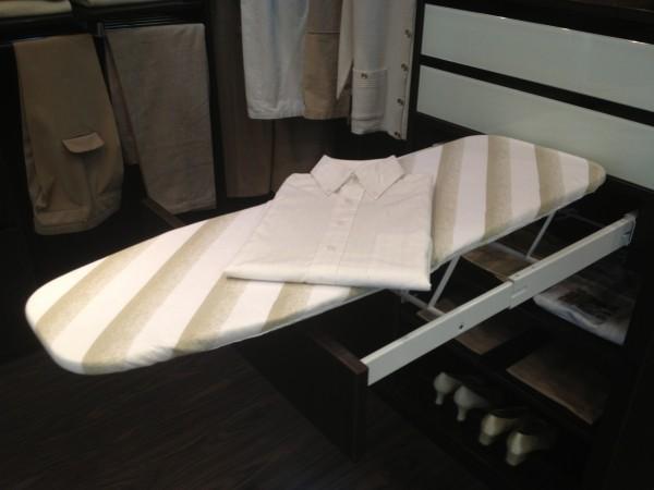 Accessoires de rangement planche repasser de placard en - Rangement planche a repasser ...