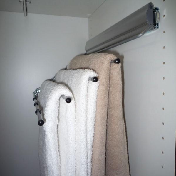 Accessoires de rangement porte serviettes coulissant et relevable droite en soldes - Serviette de bain soldes ...