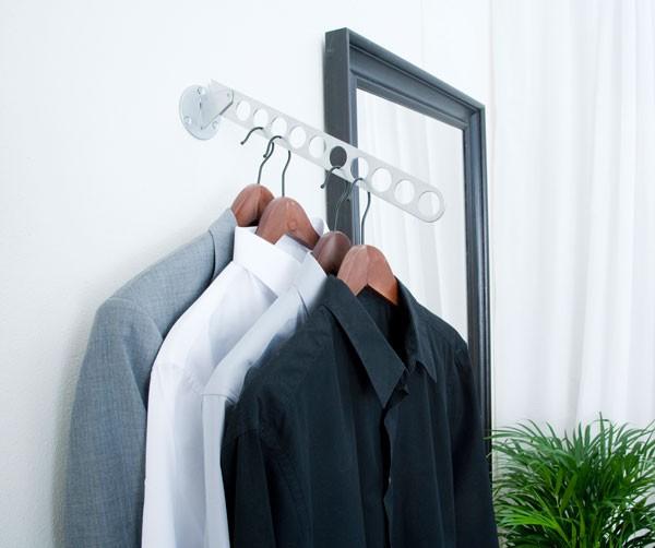 Accessoires de rangement porte cintres 6 trous for Porte cintre sur pied